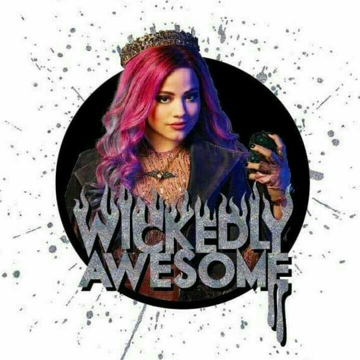 Hey dont steal my one liner audrey! Cause only i get to say WICKEDLY AWESOME!! ( Seriously peeps this is my daily word)???? #descendants3