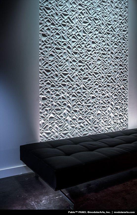 Modular Office Textured Wall Panel Design wallcandy seeyond
