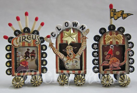 Tiny circus parade! #circus, #clown, #bear, #monkey