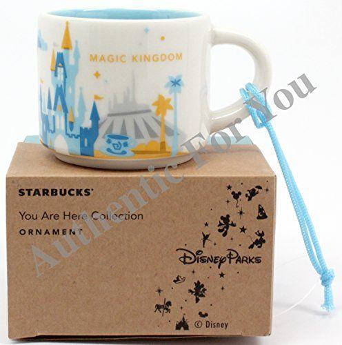 Disney Parks Starbucks You Are Here Magic Kingdom Mug Christmas Tree Ornament