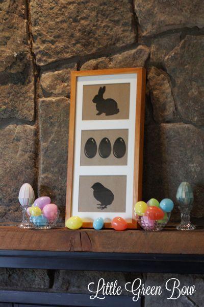 Easter Silhouette Art