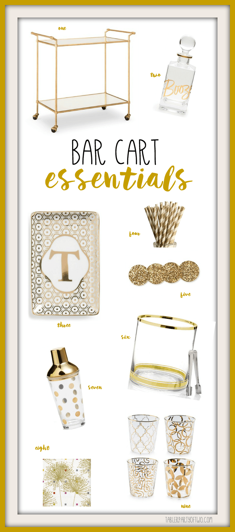 Prepare to the holidays by adding a festive bar cart to your home decor!