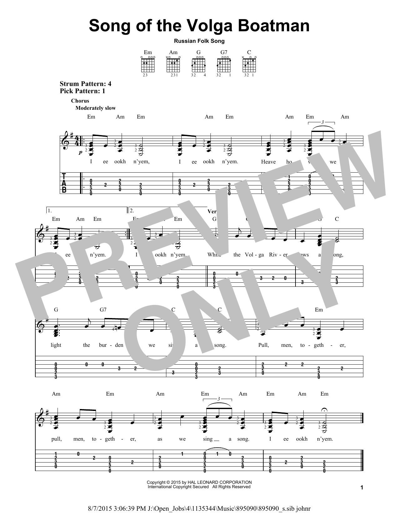 partition guitare 2015