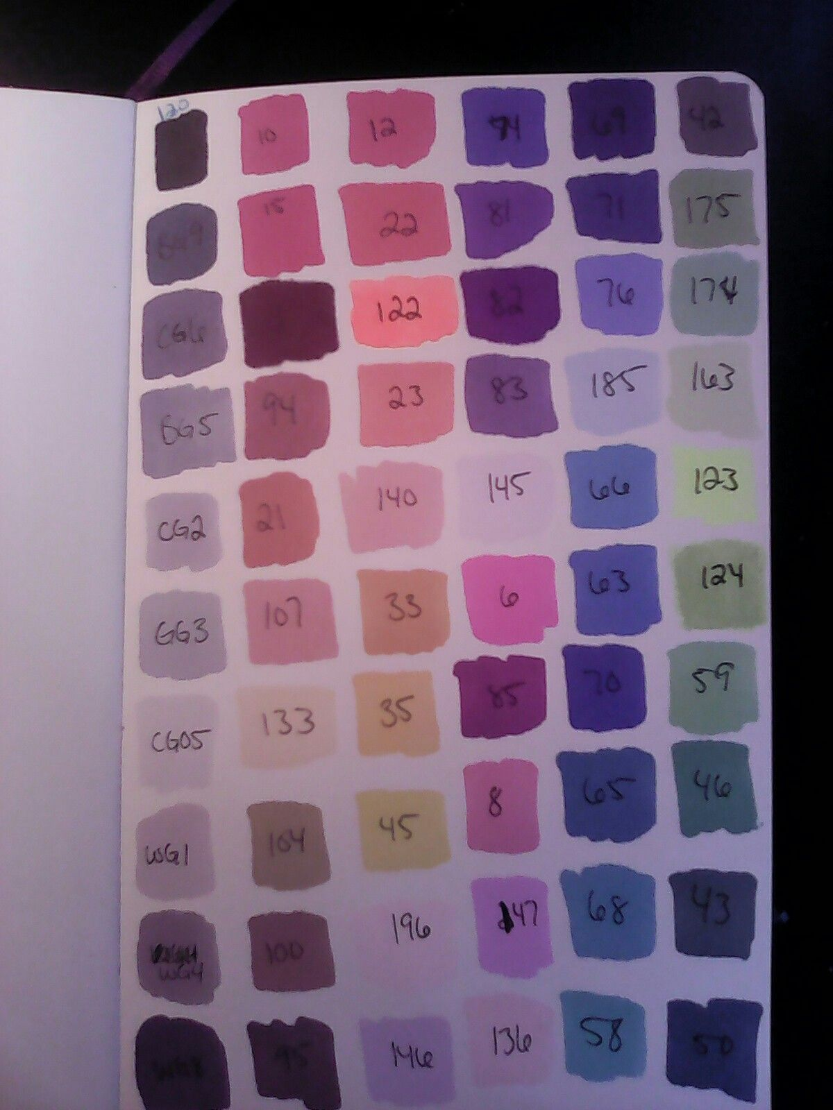 Ohuhu markers 60 marker color chart oodles of doodles ohuhu markers 60 marker color chart nvjuhfo Choice Image