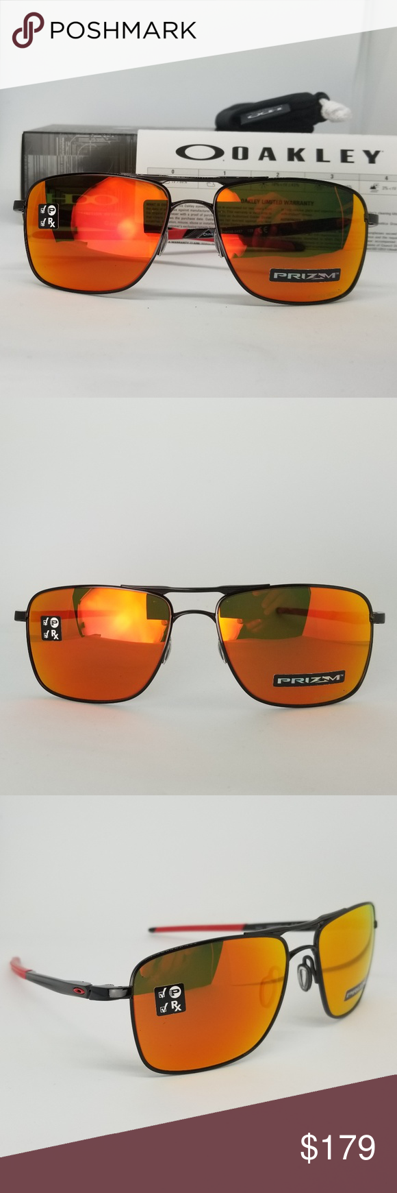 Oakley Polorized Sunglasses Rx Able Prizm Rubylens Brand