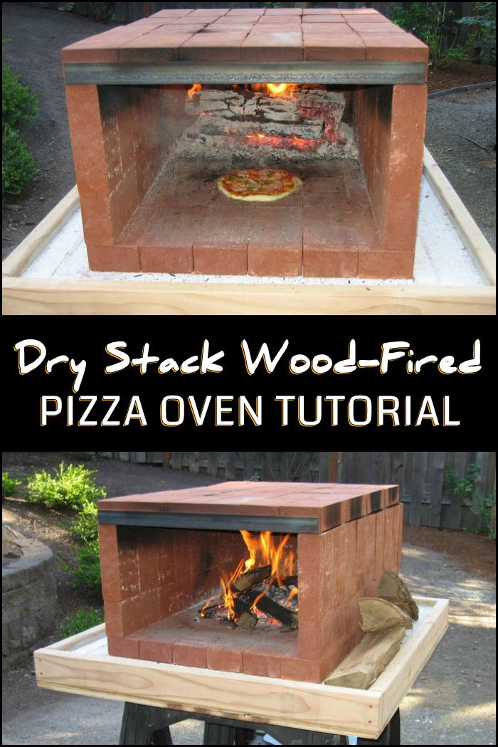 Build a dry stack wood fired pizza oven comfortably in one for Forno a legna per pizza fai da te