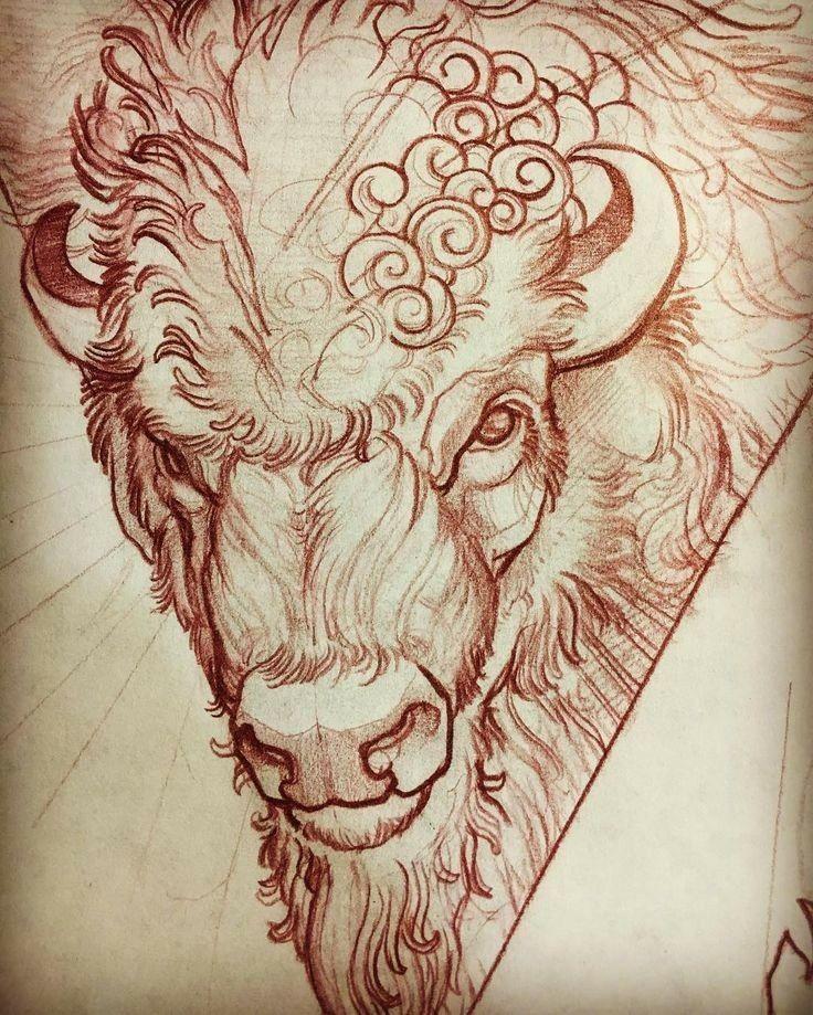 pin by duren watts on buffalo tatoo