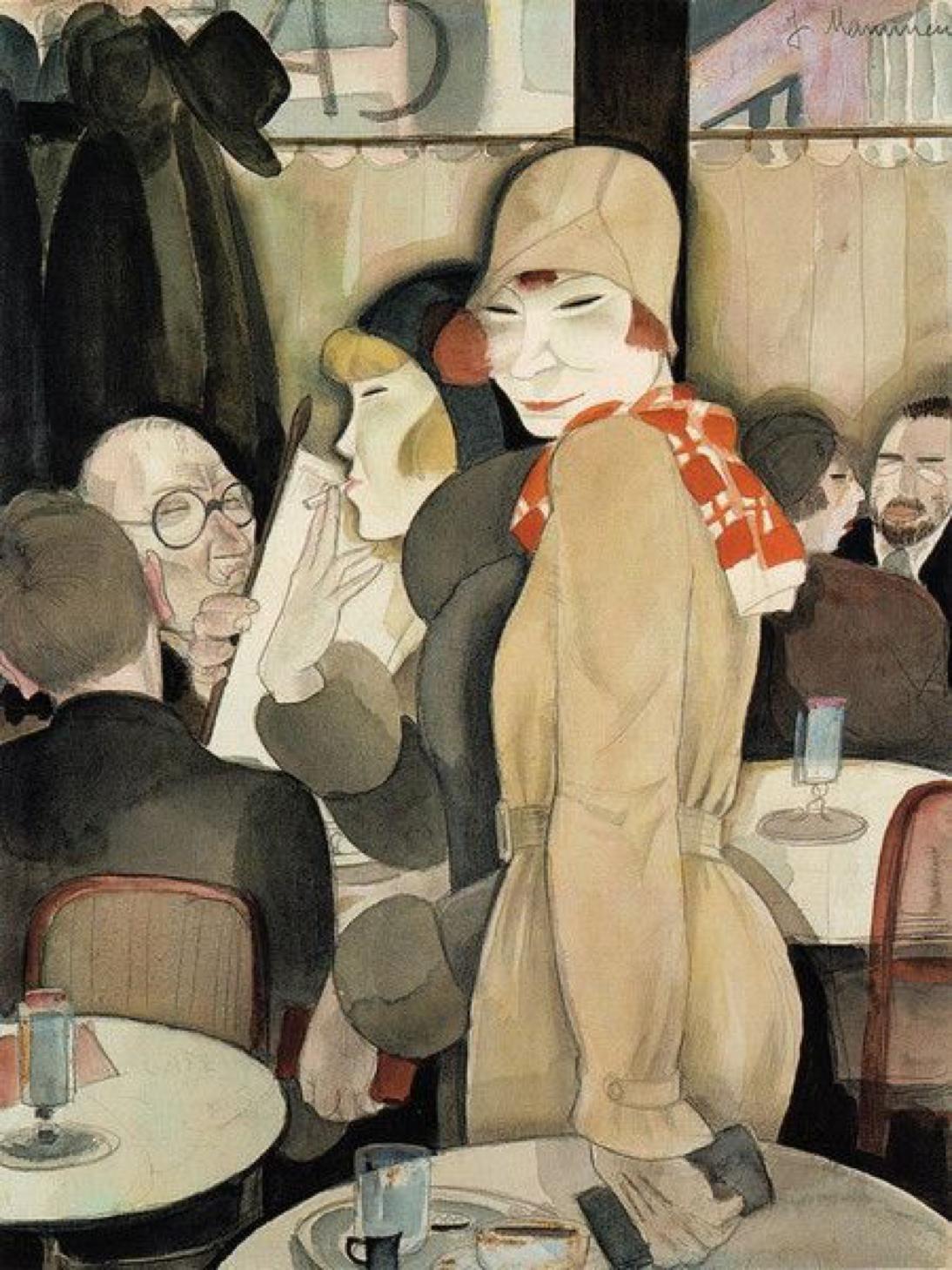 Jeanne Mammen Berliner Cafe Im Romanischen Cafe 1930 Art German Art German Expressionism