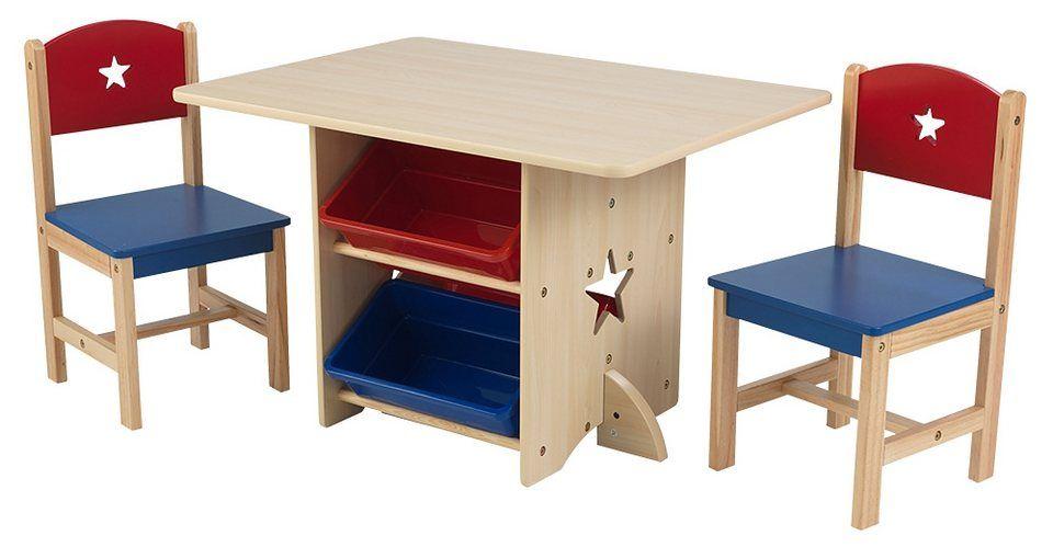 KidKraft® Kindermöbel, »Tisch mit Aufbewahrungsboxen und 2 ...