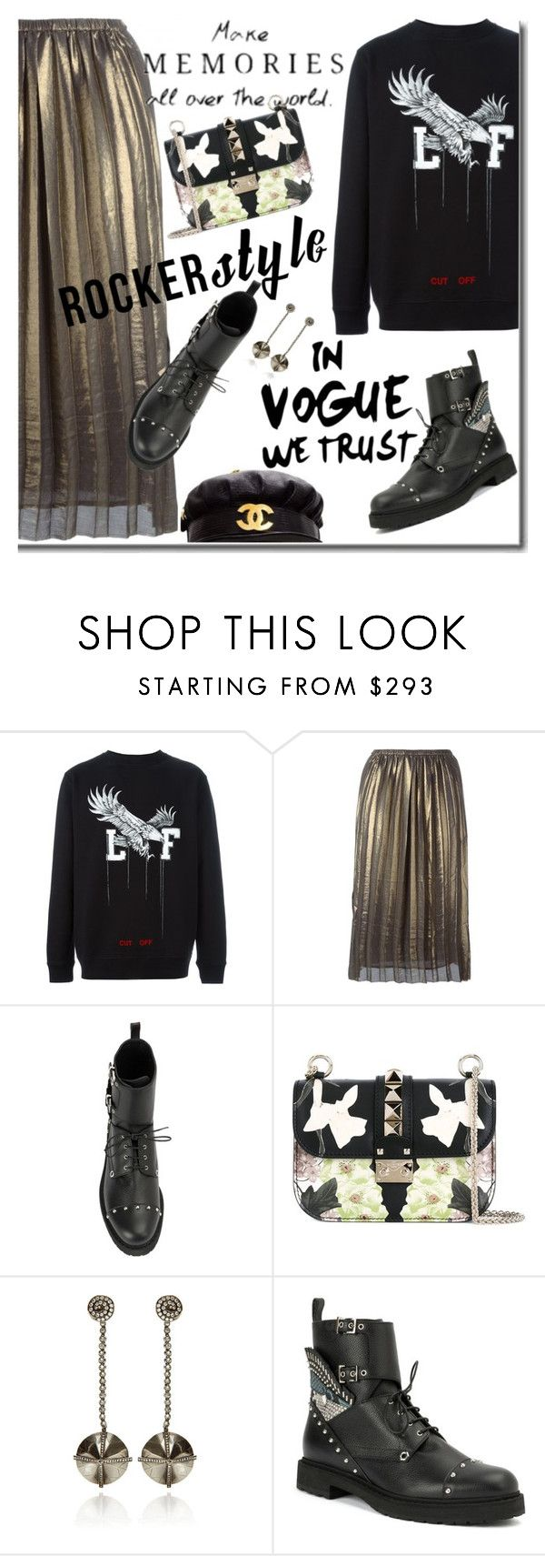 """""""Rocker Chic"""" by lacas ❤ liked on Polyvore featuring Off-White, Chanel, Étoile Isabel Marant, Valentino, VBH, rockerchic and rockerstyle"""
