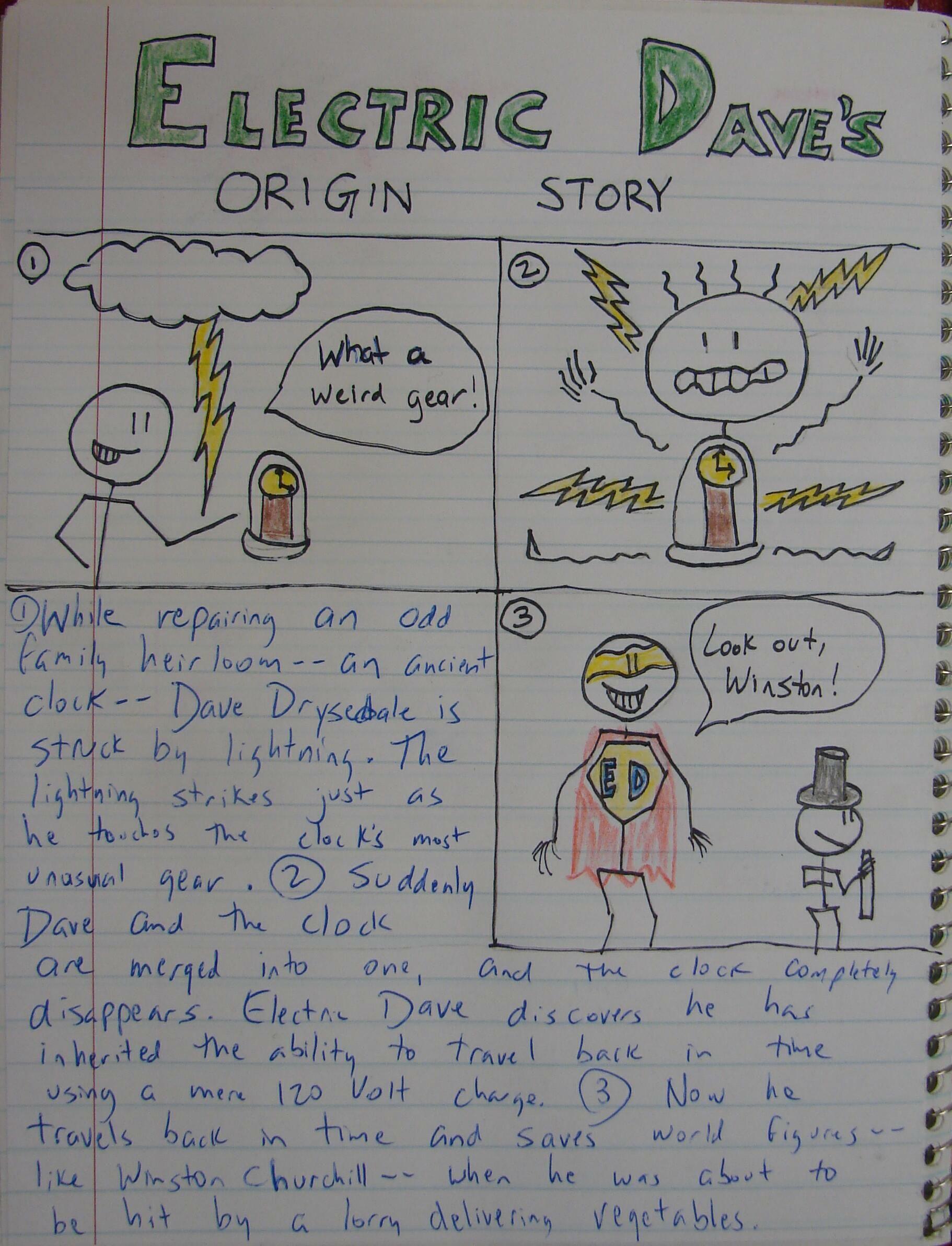 Here's the writing assignment that accompanies my SUPERHERO ABC notebook challenge: http://corbettharrison.com/GT/SuperheroABCs.htm