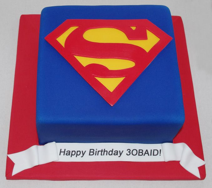 Superman Cake Celebrations Pinterest Superman cakes Cake