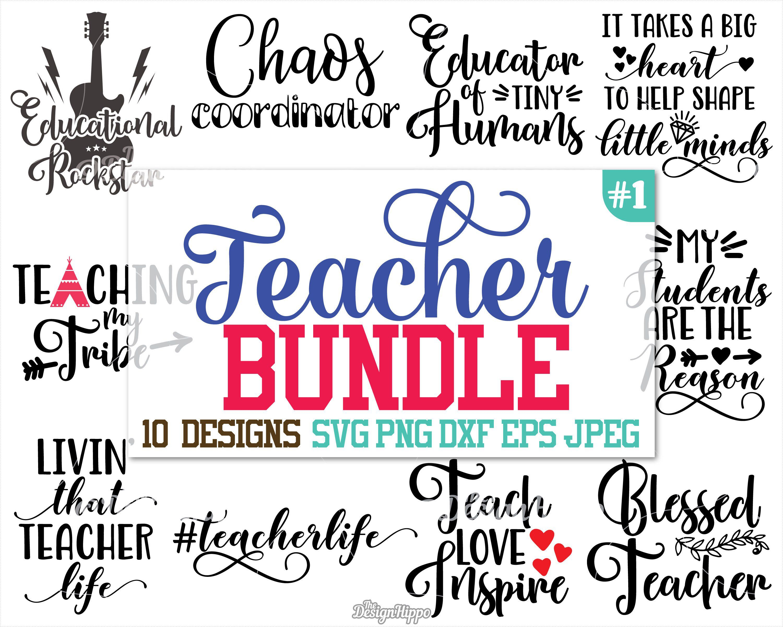 Download Teacher svg bundle, Teacher bundle svg, Teach love inspire ...
