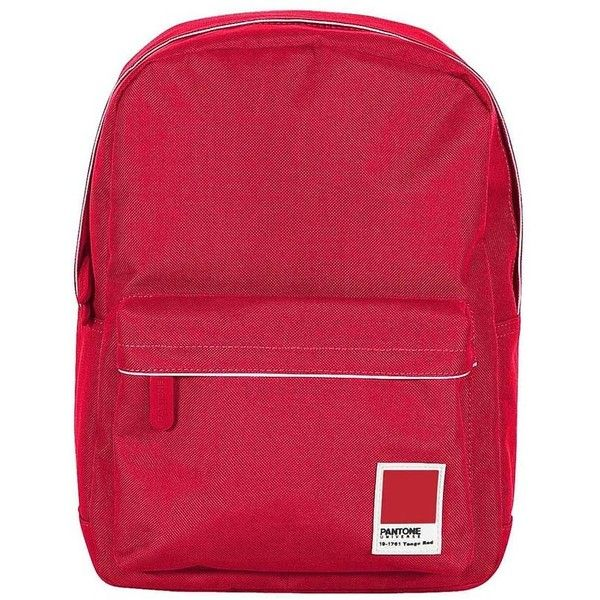 Pantone Pantone Mini Backpack - Tango Red (€39) ❤ liked on Polyvore featuring bags, backpacks, red, padded backpack, zip bags, miniature backpack, travel backpack and backpack travel bag