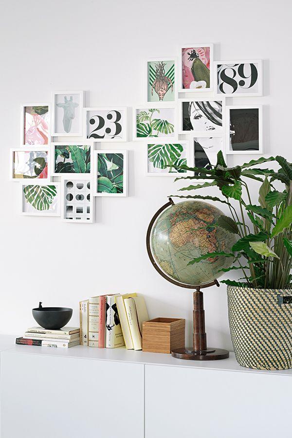 VÄXBO Collage-Rahmen für 8 Fotos, weiß | Pinterest | Walls, Living ...