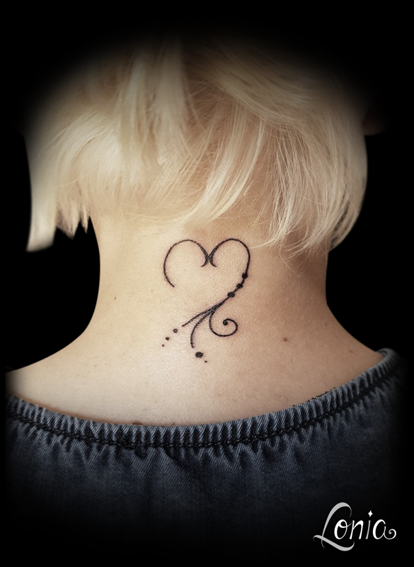 tatouage nuque cou coeur ornement feminin | ✿ tattoos ✿ | tattoos