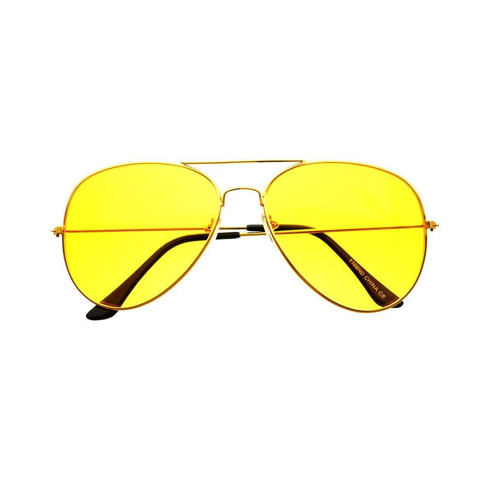 #classic #unisex #metal #night #driving #yellow #lens