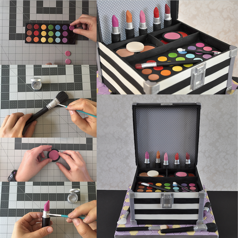 makeup box cake tutorial … Tortas de maquillaje