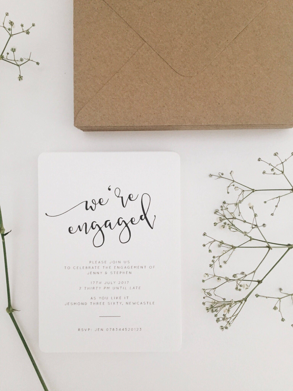 Iris engagement invites engagement invitation card etsy