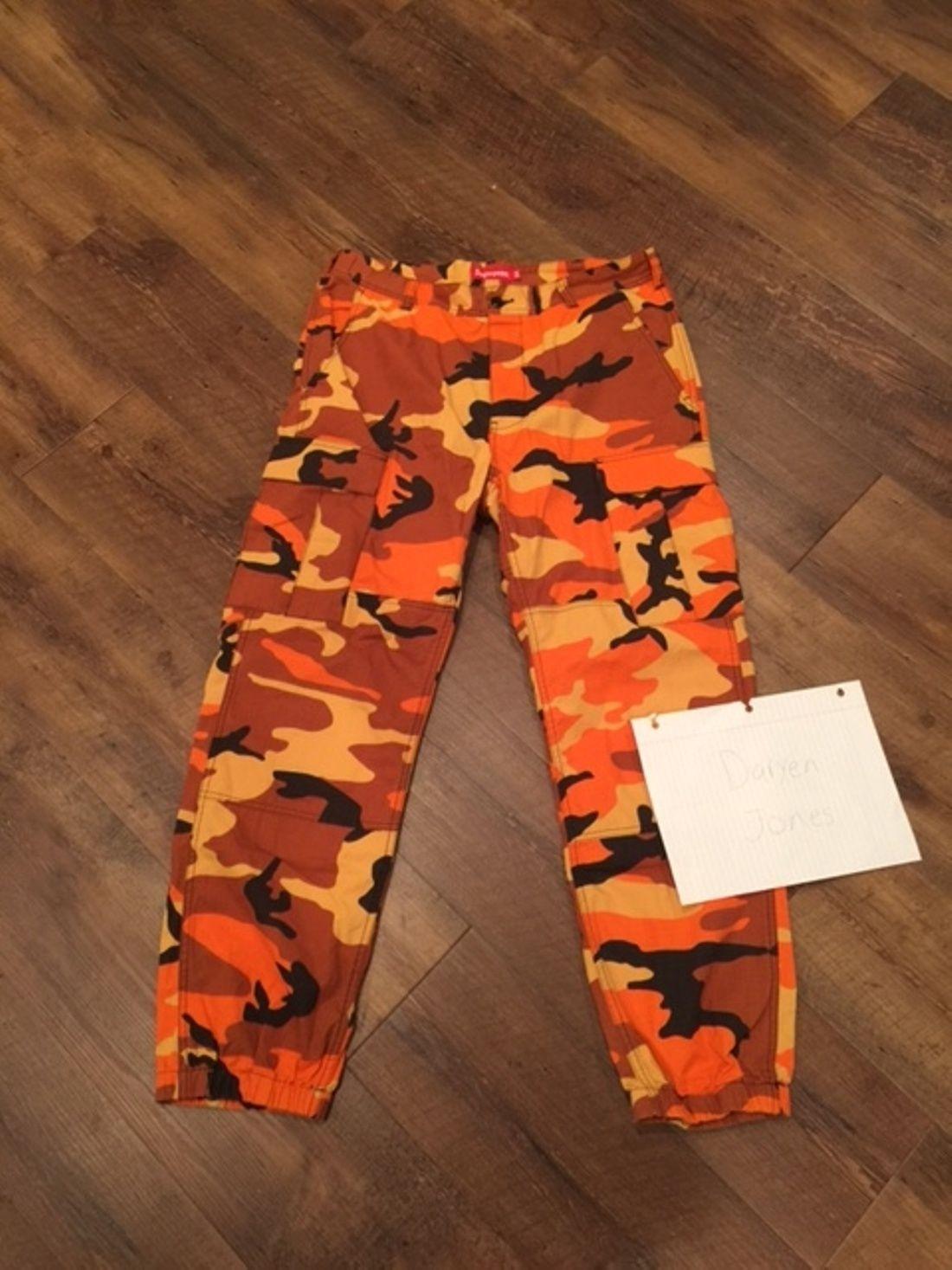 8f3c174a267a Supreme Supreme Orange Camo Pants Size US 34   EU 50 - 1