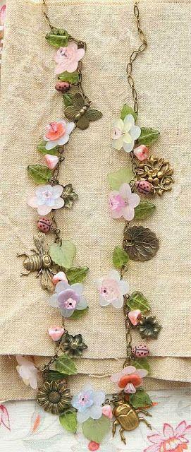 The Art Of Craft Class- Vintage Fleur necklace by Kaari Meng