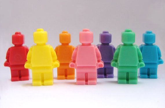 Lego Minifigure Men Soap Set - 8 Different Colored Soaps by BulkSaltsBathandBody on Etsy https://www.etsy.com/listing/110106790/lego-minifigure-men-soap-set-8-different