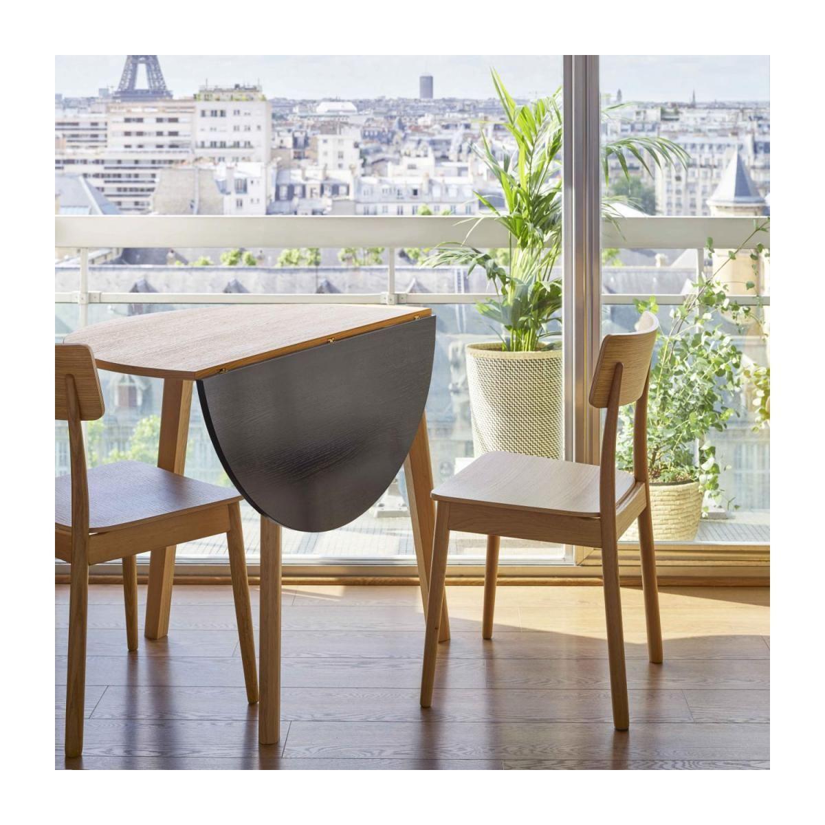 Pivot Table Avec Plateau Bicolore Pliant En Chene Design By Goncalo Campos Salle A Manger Petit Espace Table Rabattable Et Table Petit Espace