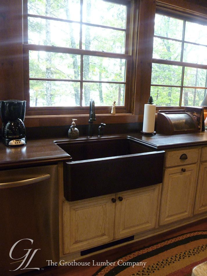 Featured Project Of The Week, Sapele Mahogany Wood Countertops Designed By  Cooper Designs #woodcountertops #rustic ...