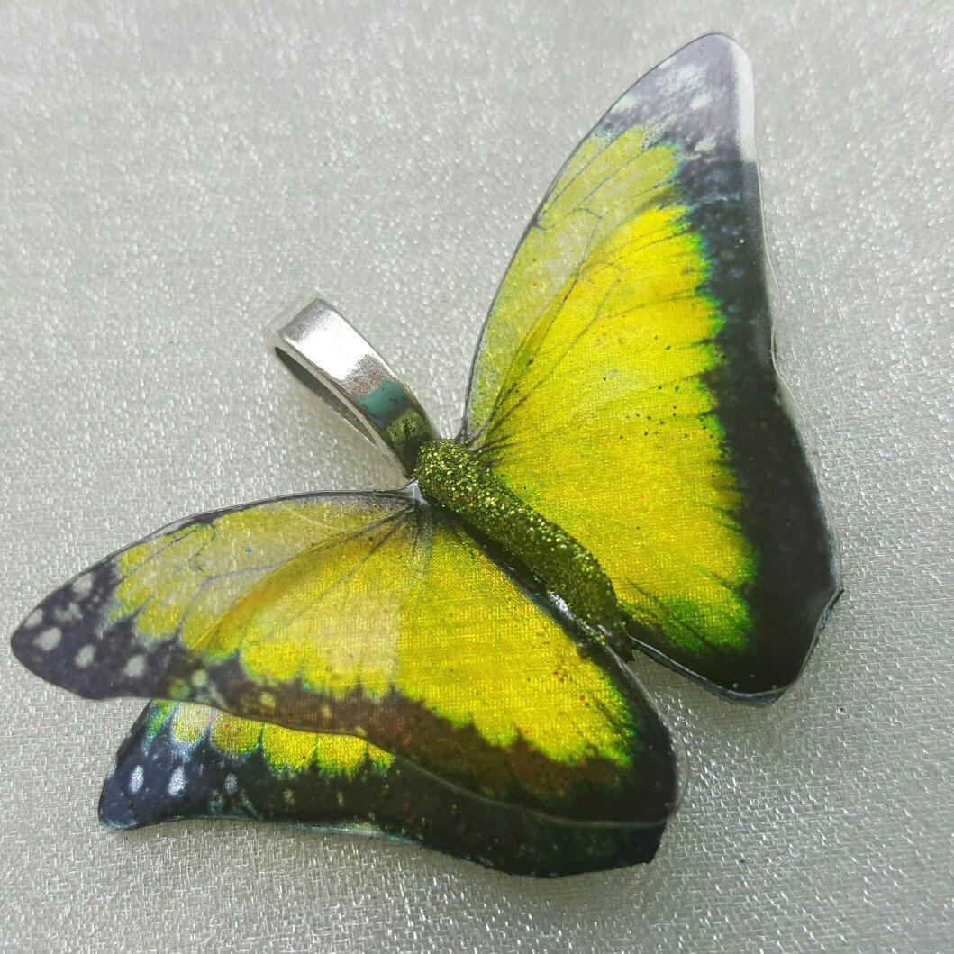 3D black edged Mint Lemon Citrus iridescent handcrafted resin ...