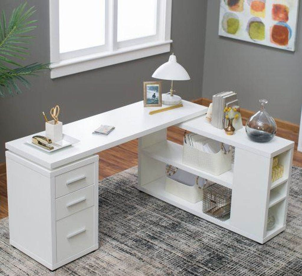 Gorgeous Desk Designs For Any Office Cool Office Desk White