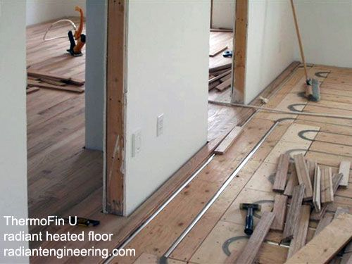 Thermofin U Installed As An In Floor Radiant Heating System