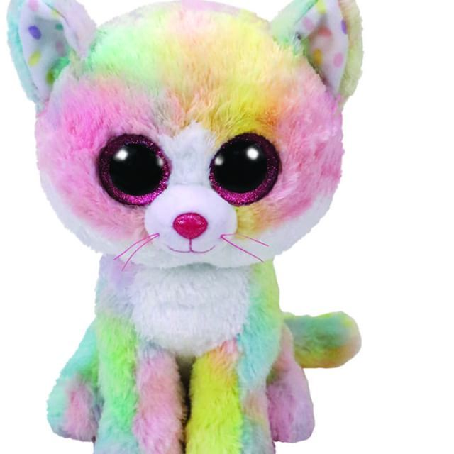 914dec95788 Ty beanie boo rainbow cat
