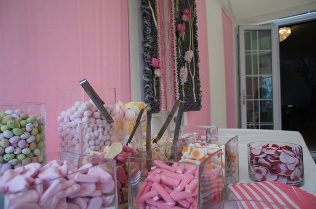 Candy Buffet at a Baby Shower - Produced by Mirage Parties - Party