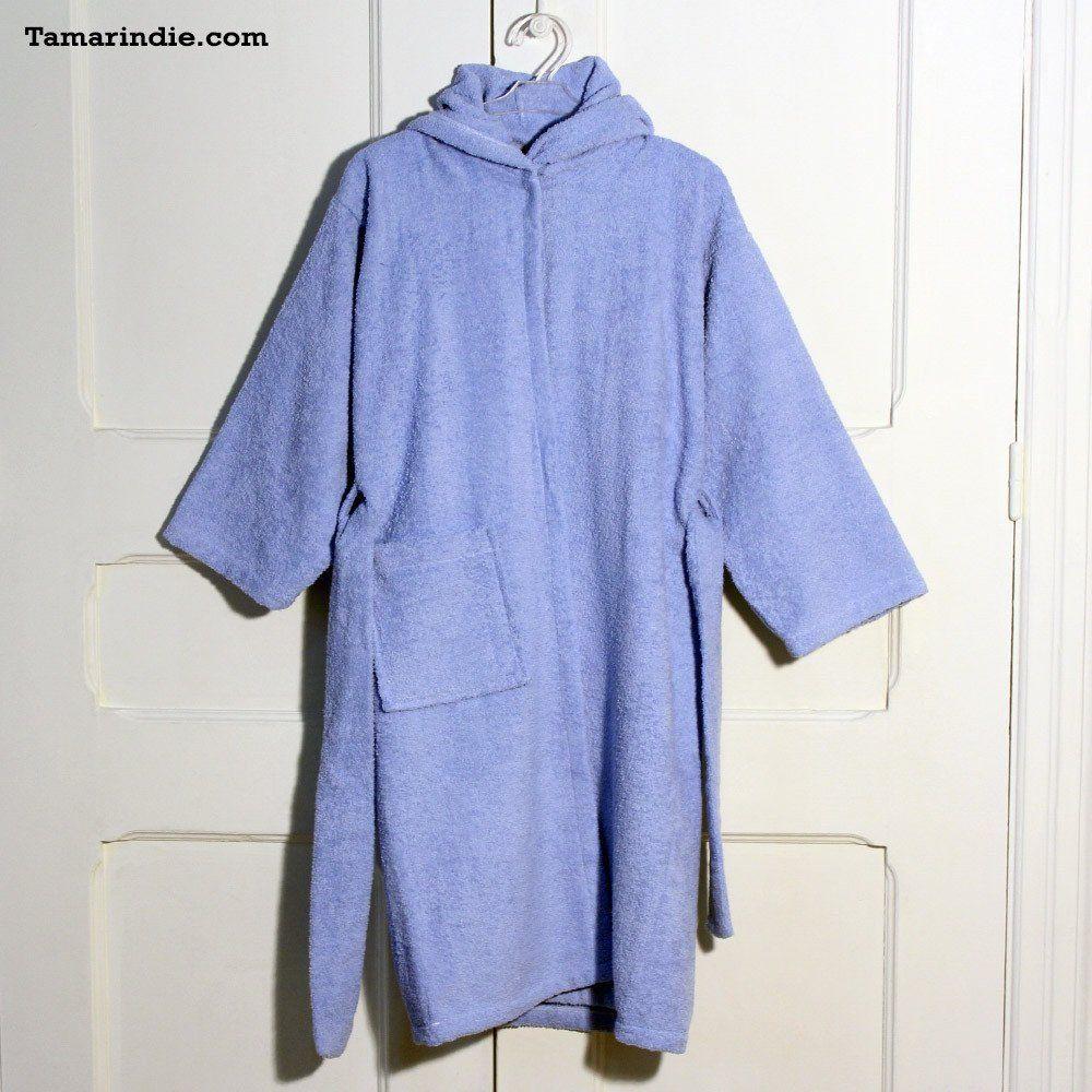 Blue Hooded Kids Bathrobe Fashion Bathrobe Towel Robe