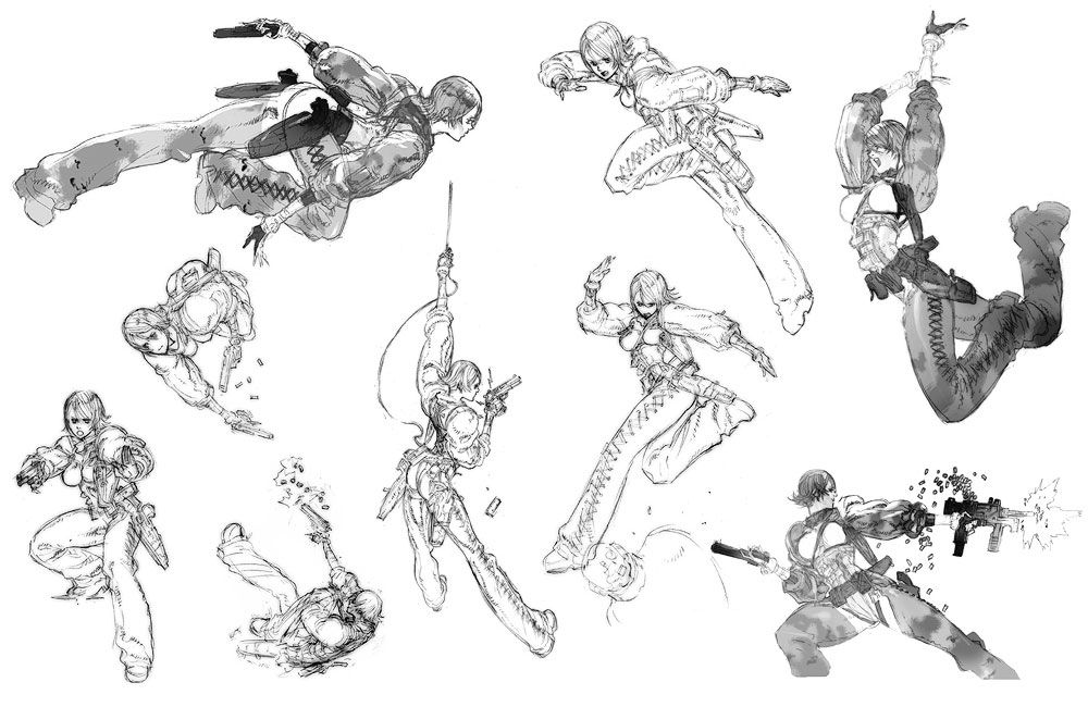 Teliko Sketches from Metal Gear Ac!d sketchy style  lineart