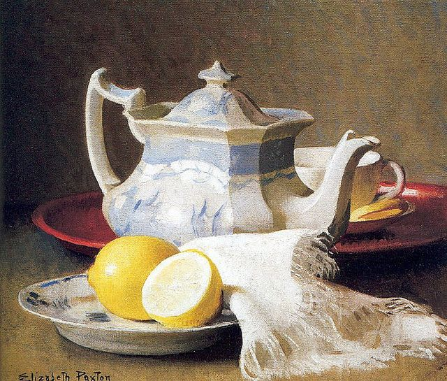 Elizabeth Paxton - Still Life with Teapot and Lemons