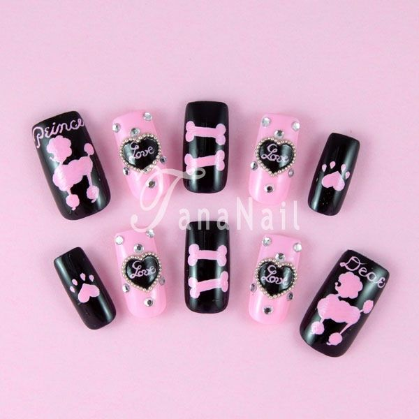 Really Want My Nails Done In These Poodle Nail Art Dog Nails