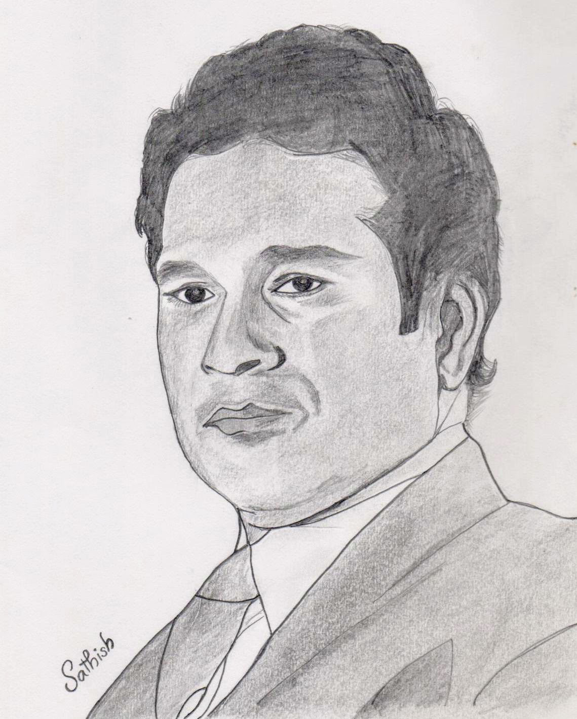 My drawing of sachin tendulkar sachintendulkar sachin art sketch