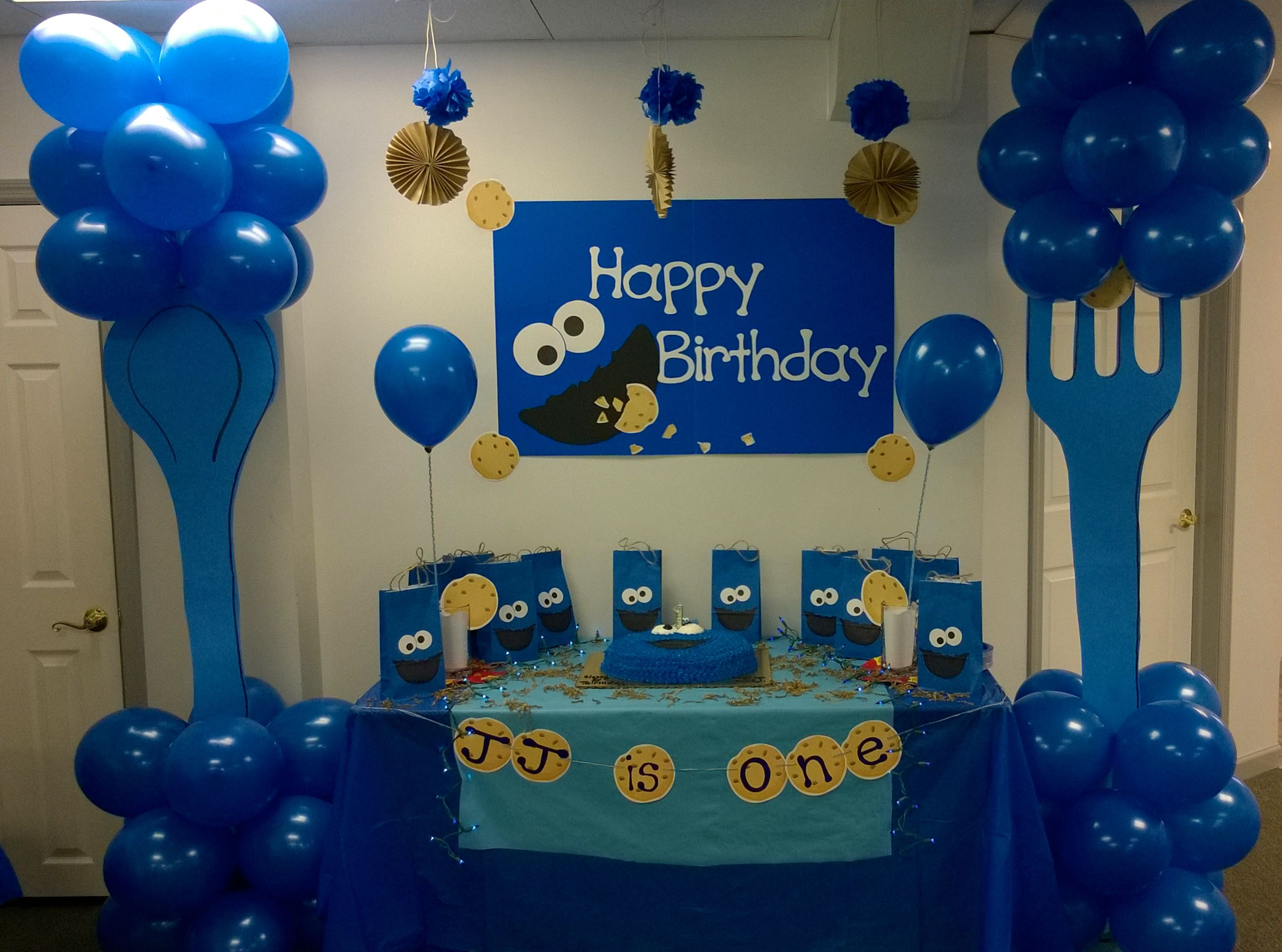 Cookie Monster Birthday Table Party