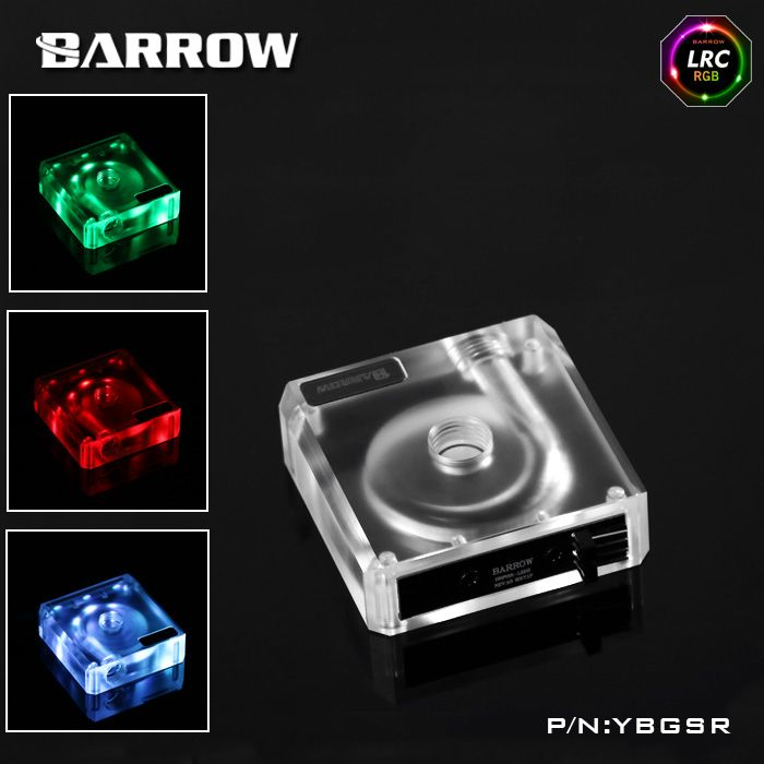 Barrow Rgb Acrylic Water Pump Cover For Ddc Serise Pump Computer