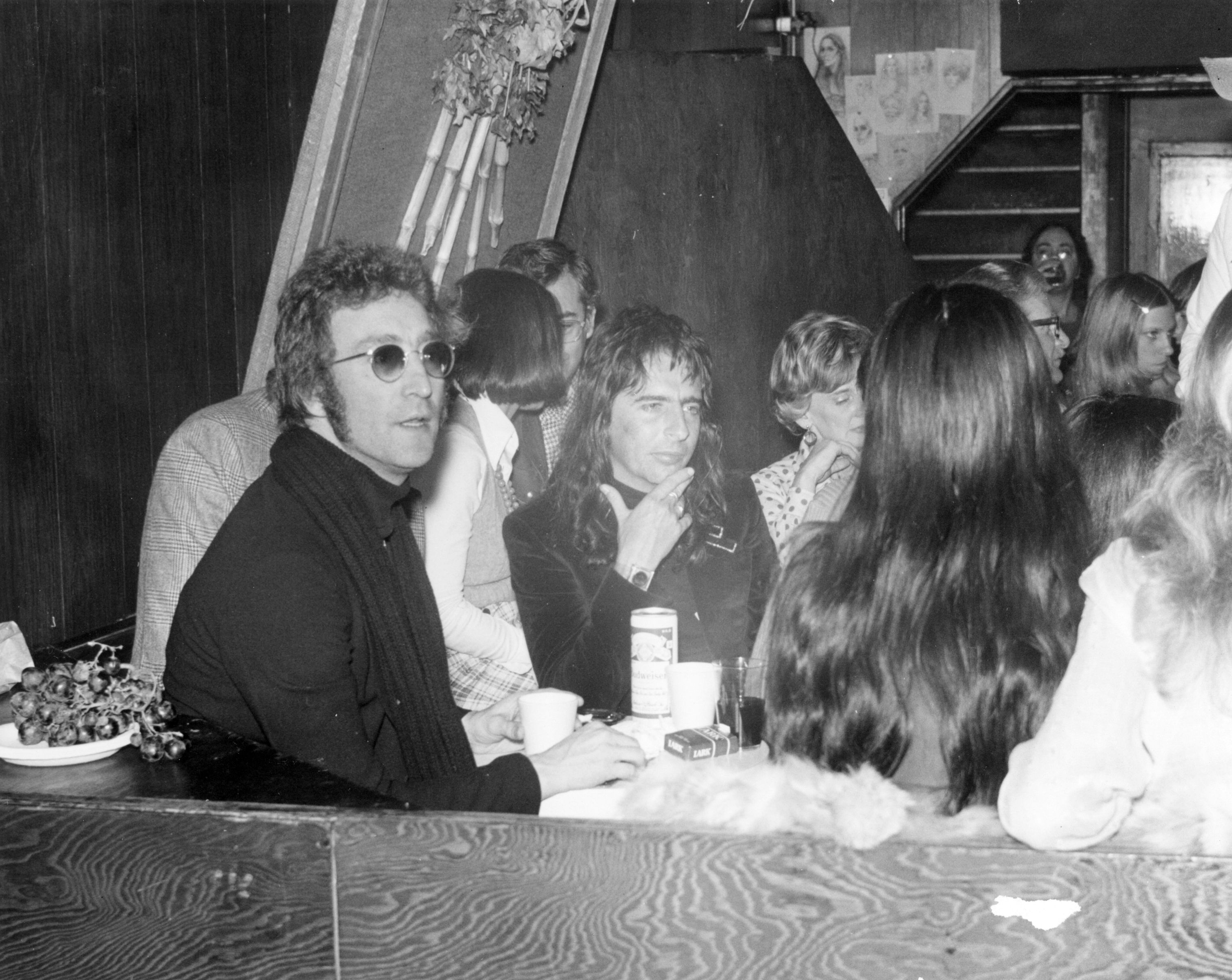 John Lennon and Alice Cooper at the Troubadour in 1973