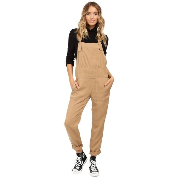 e14c56cafa2 Obey Ridgefield Overalls (Dark Khaki) Women s Overalls One Piece (£88) ❤  liked on Polyvore featuring jumpsuits