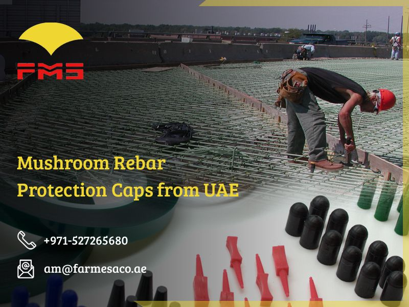 Get durable mashroom rebar protection caps from UAE from one of the