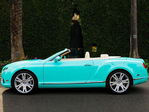 "2013 Bentley Continental GTC V8 ""Tiffany Blue"" Beverly Hills edition ..."