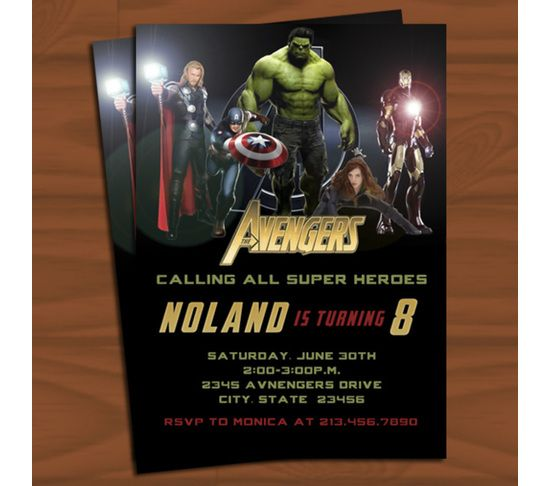The Avengers Birthday Invitation
