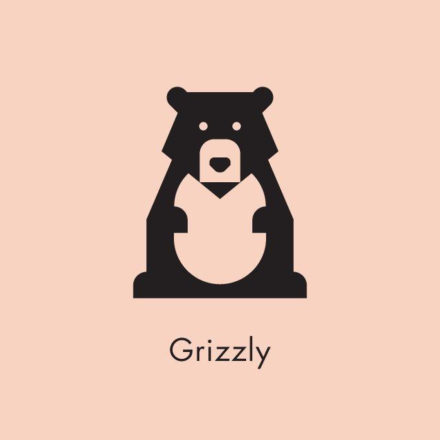 него, медведь картинка минимализм состоит поперечной балки
