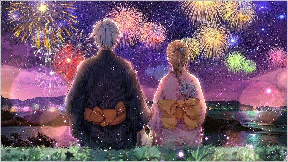 4k Wallpaper 2019 Dual Screen New Year Anime Romance Wallpaper Anime