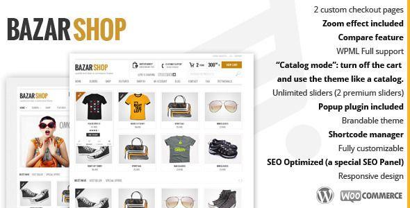Bazar Shop - Multi-Purpose e-Commerce Theme | Woocommerce Shop ...