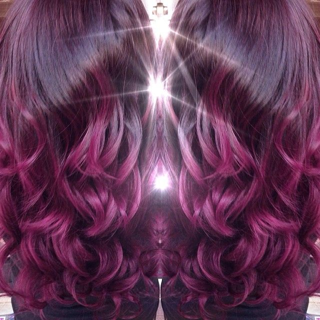 Black Cherry Hair Color With Blonde Highlights