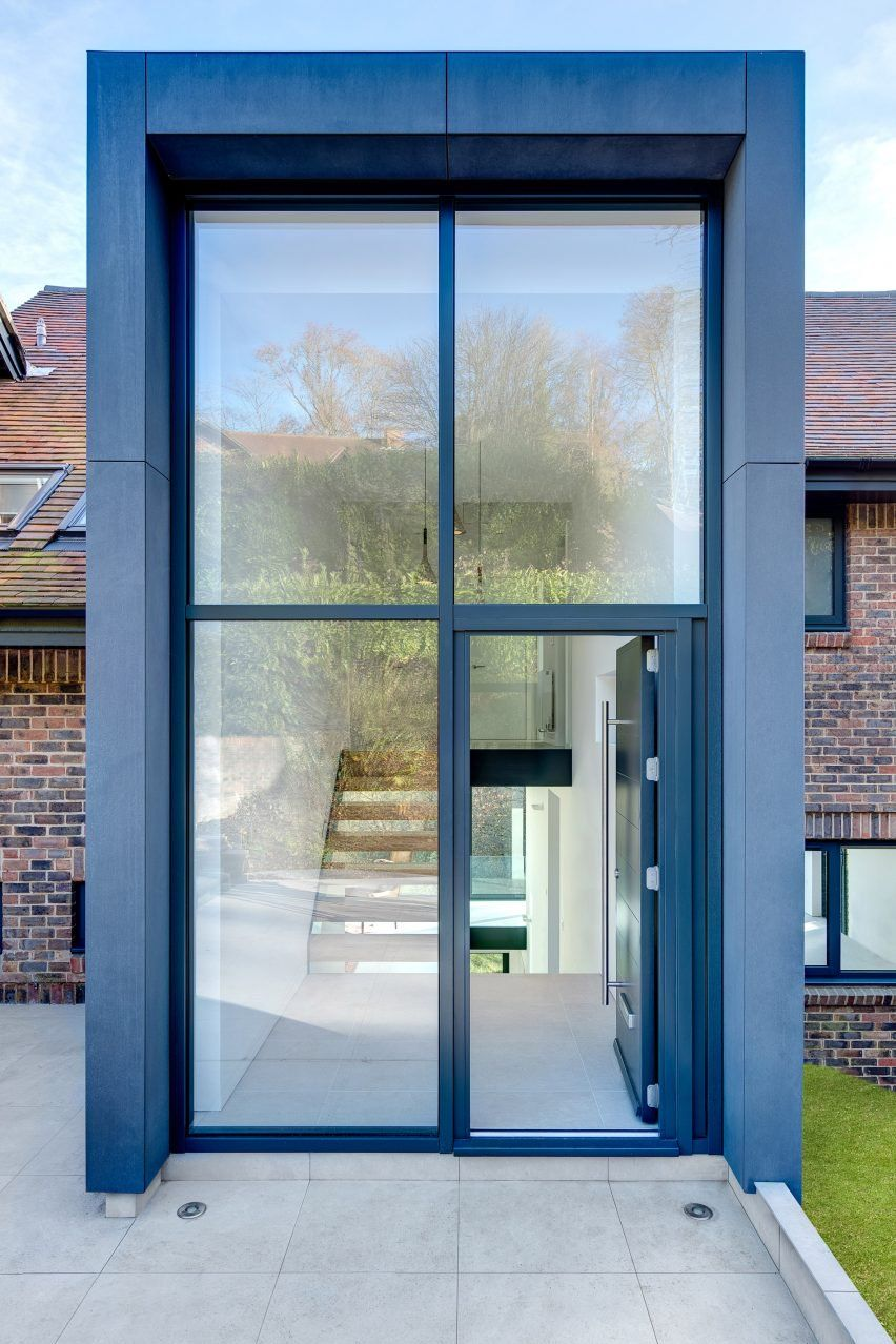 AR's second addition is a two-storey-entrance hall at the front of on sliding glass doors with designs, french doors with designs, screens with designs, shower doors with designs, storm doors with designs, mirrors with designs, front doors with designs,